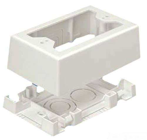 Panduit Jbx3510Wh-A 1-Gang Outlet Box, White, 2-Piece