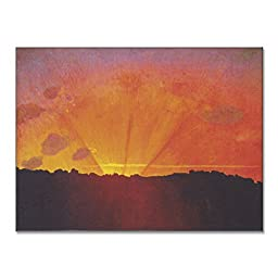 Felix Vallotton Sunset Orange Sky 1910 Original Landscapes Oil Painting Reproduction on Gallery Wrapped Canvas 30X22 inch