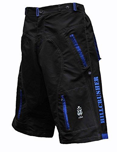 Check Out This Astek Men's Blue Black MTB BMX Baggy Padded Mountain Bike Shorts