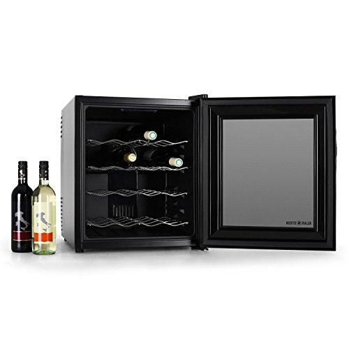 Klarstein HEA-MKS-1 Cantinetta per vino mini frigo bar (16 bottiglie, 48 litri, illuminazione interna LED)