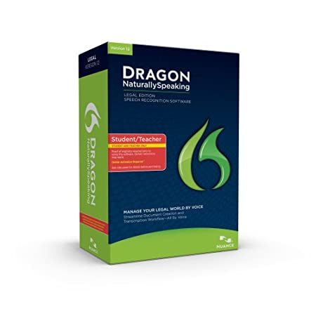 Dragon NaturallySpeaking Legal 12, Student/Teacher Edition, English