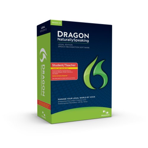 Dragon NaturallySpeaking Legal 12, English,  Student/Teacher Edition