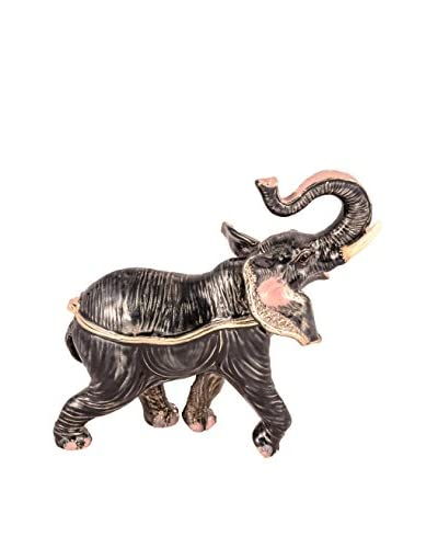 Bejeweled Elephant Box, Grey