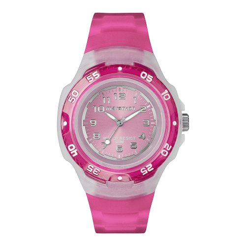 Timex Sport Marathon Midsize Quartz Watch with Pink Dial Analogue Display and Pink Resin Strap T5K3674E