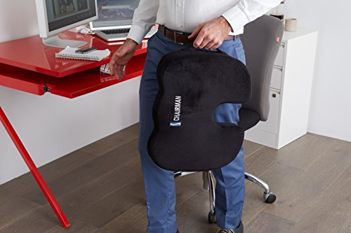 The Chairman Coccyx and Sciatica Orthopedic Comfort Foam Seat Cushion for Office Chair, Truck Drivers, and Cars