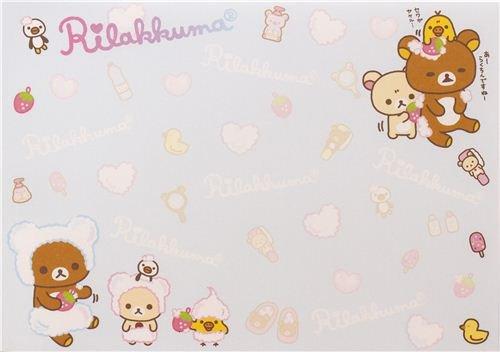 Imagen 4 de Bloc de notas Rilakkuma con osos y un pollito en la bañera