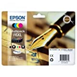 Epson 16XL Multipack - Print cartridge - XL size - 1 x black, yellow, cyan, magenta - for WorkForce WF-2010W, WF-2510WF, WF-2520NF, WF-2530WF, WF-2540WF
