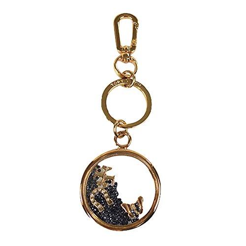 Tory Burch Sylbie Giltter Best Wish Butterfly Horse Shoe Keychain Key Chain In Bag