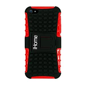iHome IH-5P130R Tough Case for iPhone 5, Red
