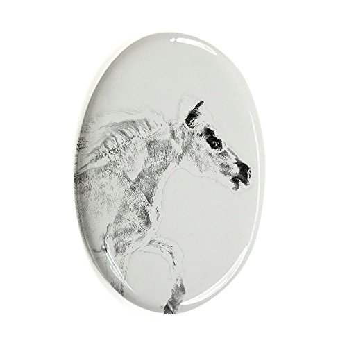 falabella-oval-gravestone-from-ceramic-tile-with-an-image-of-a-horse