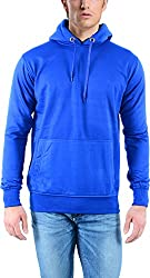 vibgyor Men's Cotton Sweatshirt (VSWFQIBWOBN_40, Blue, 40)
