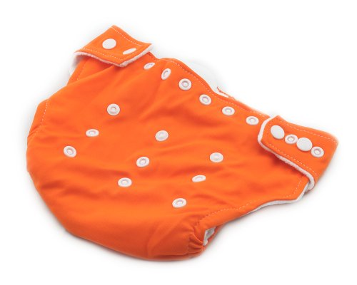 BONAMART ® New Adjustable Size Unisex Reusable Baby Girl Boy Washable Cloth Nappy Diaper Orange