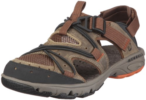Merrell Men's Cambrian Convertible Coriander/Dark Earth Closed-Toe Sandal J82109 13 UK