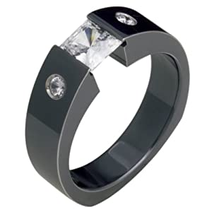 Black Wedding Rings For Him Ilinka Excellent Black Titanium Wedding Band For Him And Or Her