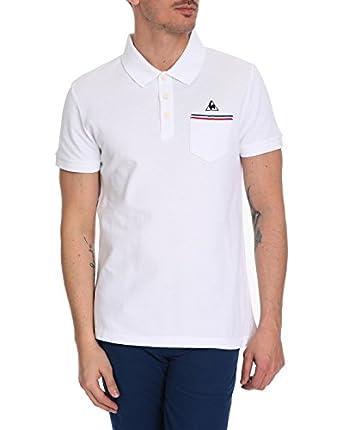 LE COQ SPORTIF Polo Homme Polo Stripes Pocket Blanc pour homme
