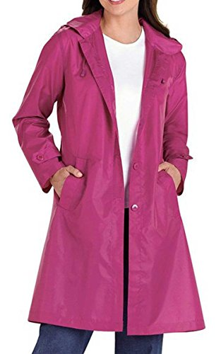 CRAVOG Damen Regen Jacke Übergangs Windbreaker Outdoor Regenjacke