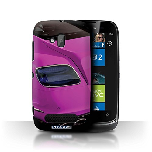 Stuff4 Hülle / Hülle für Nokia Lumia 610 / Continental/Rosa Muster / Bentley Kollektion