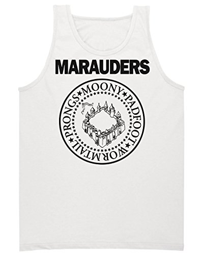 The Marauders: Moony, Padfoot, Wormtail And Prongs Circle Emblem Men's Tank Top Shirt Small