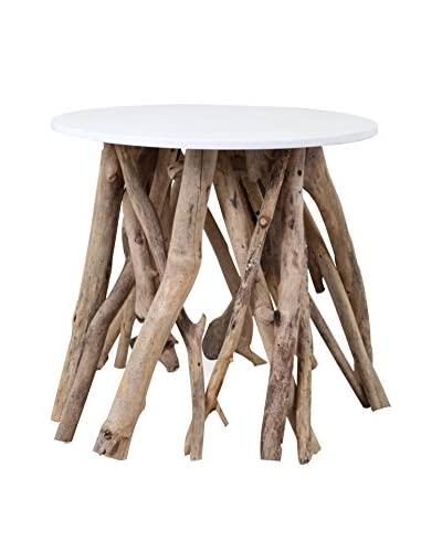 Jeffan Natura Resin-Top Side Table, Natural