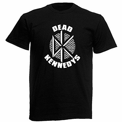 T-shirt Uomo - Dead Kennedys maglietta con stampa rock 100% cotonee LaMAGLIERIA,M, Nero