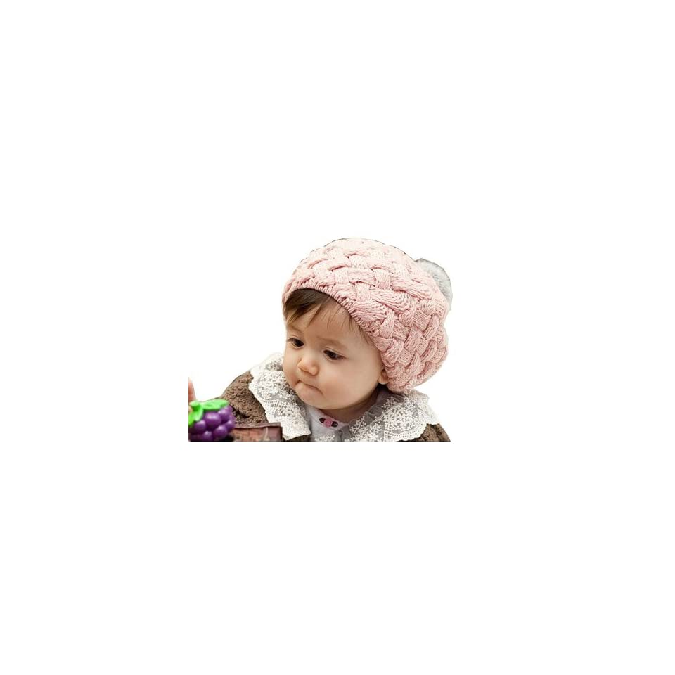 Bee&rose Lovey Ovely Cute Little Girl Handmade Hat /Cap ,Baby Girl Princess Headband Hair Band Headwear Accessories Crochet Lace Princess Pattern (pink) Clothing