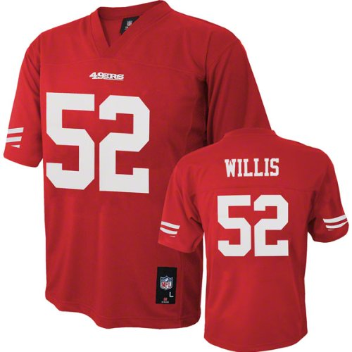 Patrick Willis NFL Youth Jersey: Home Red #52 San Francisco 49ers Jersey at Amazon.com