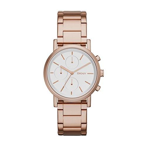 DKNY NY2275Soho Cronografo Orologio da donna in acciaio inox 50m Analog Chrono Rose