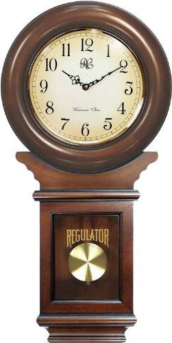 Regulator Wall Clock Chimer with Cherry Finish
