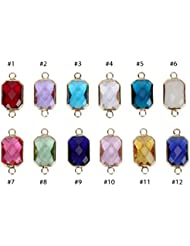 2 X December Birthstone Charms 10x14mm Austrian Crystal Beads For Charm Bracelets Necklaces Jewelry Making CCP12-12