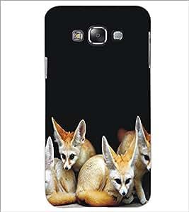 PrintDhaba Animal Design D-5324 Back Case Cover for SAMSUNG GALAXY E7 (Multi-Coloured)