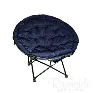 quest elite grand fauteuil lune caravan de camping bleu jardin. Black Bedroom Furniture Sets. Home Design Ideas
