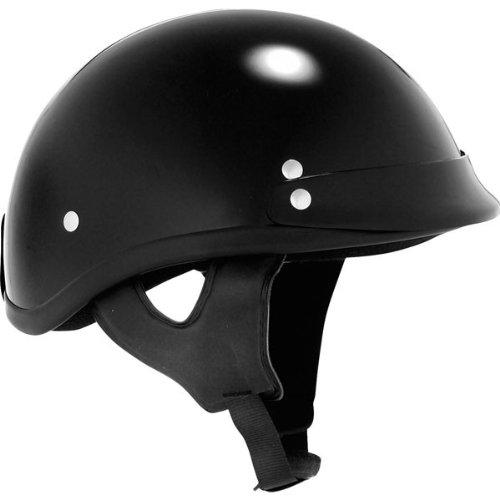 Skid Lid Gloss Traditional Helmet (Black, Medium)