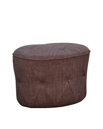 International Design USA Luxe Tufted Ottoman, Brown