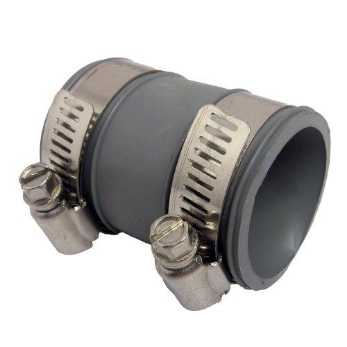 Lasco flexible rubber tubular coupler with clamps