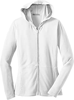 Port Authority Ladies Modern Stretch Cotton Full-Zip Hooded Jacket L519 White XL
