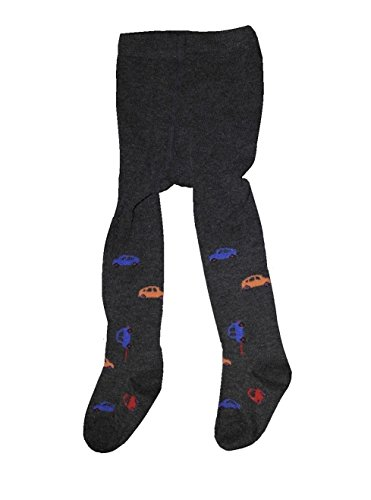 Bomio Toddlers Baby Boys Girls Cotton Warm Tights, Various Patterns and Sizes Available (6-12m, Dark-Gray-Novelty)