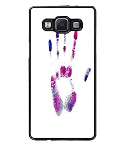 PrintDhaba Hand Print D-2054 Back Case Cover for SAMSUNG GALAXY A5 (Multi-Coloured)