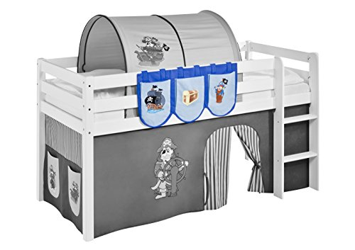 lilokids h ngetaschen pirat blau f r hochbett spielbett und etagenbett. Black Bedroom Furniture Sets. Home Design Ideas
