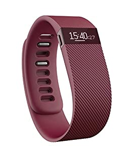 Fitbit Charge Wireless Activity with Sleep Wristband - Burgundy, Large