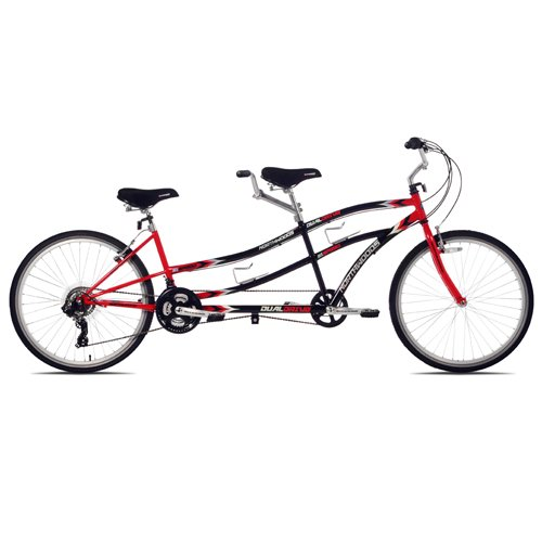 Kent Northwoods Dual Drive Tandem Bike (26-Inch Wheels), Red/Black