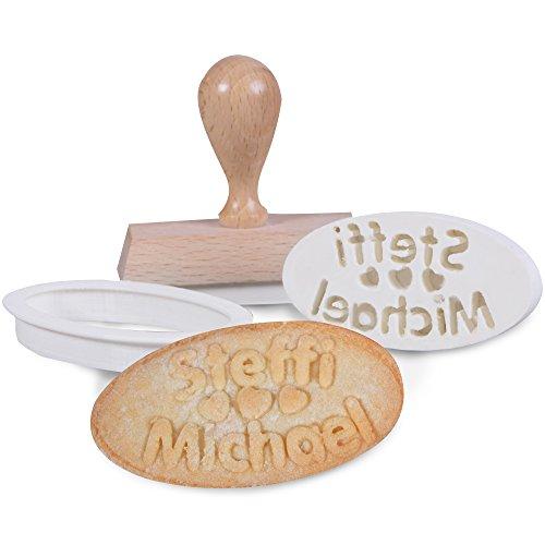 personello personalisierter cookie stemple mit wunsch namen inklusive keksausstecher geschenk. Black Bedroom Furniture Sets. Home Design Ideas