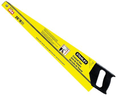 Stanley 15-726 Crosscut Hand Saw With Plastic Handle, 26