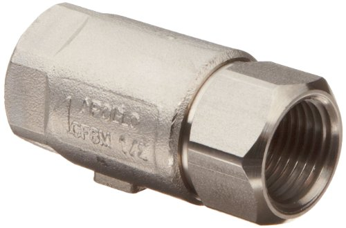 Apollo 62-101-01 Stainless Steel Check Valve, Ball Cone, 1/4