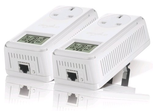 Devolo dLAN 200 Avsmart and Starter UK Kit (Pass-Thru, Filter + LCD) (2x Plugs)