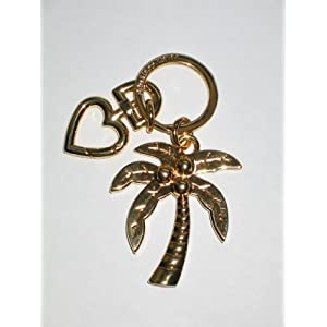 Juicy Couture Key Fob Gold Tone Palm Tree