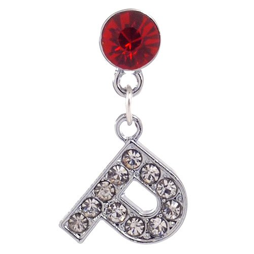 1X Rhinestone Alphabet Charm Dust Proof Dust Plug Iphone Speaker Plug Plugy - P