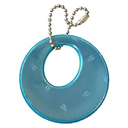 funflector Safety Reflector - Basic Shapes - Stylish Reflective Gear for Jackets Bags Purses Backpacks Strollers and Wheechairs Circles - Teal