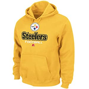 Pittsburgh Steelers Yellow Critical Victory V Fleece Hooded Sweatshirt by VF Imagewear