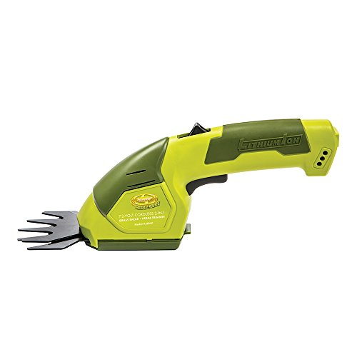 Sun joe hj604c lithium ion cordless grass shear hedge for Hand held garden clippers