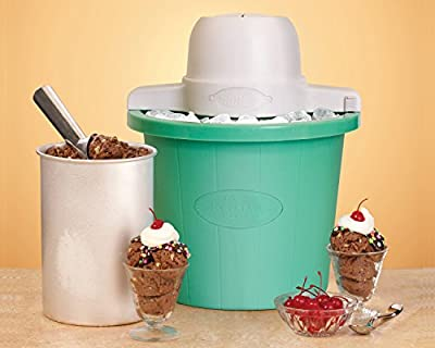 Nostalgia Electrics ICMP200PIST Old Fashioned Ice Cream Maker, 2-Quart from EMG East, Inc. (direct order)